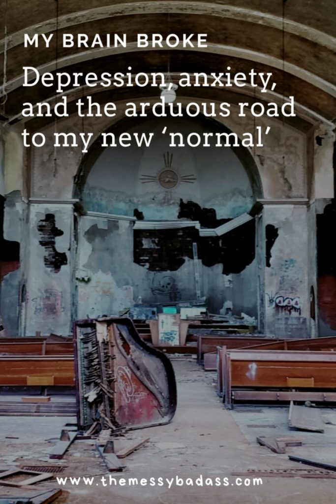 my brain broke depression anxiety and the arduous road to my new normal ashley allyn the messy badass